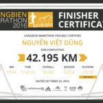 Race Long biên marathon – 42km đầu tiên